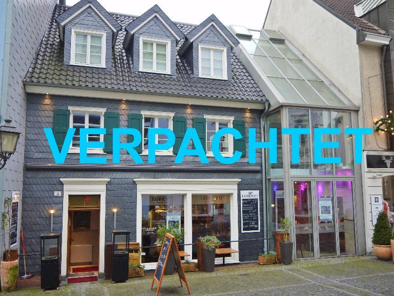 Haus Valder ! Interessante Gastronomieimmobilie mit komplettem Inventar in bester Haaner Innenstadtlage