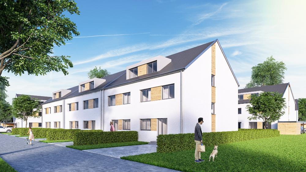 """Neubauvorhaben """"Wohnpark Am Teichkamp"""" Familienfreundliches Reihenhaus in KfW 55 Standard"""