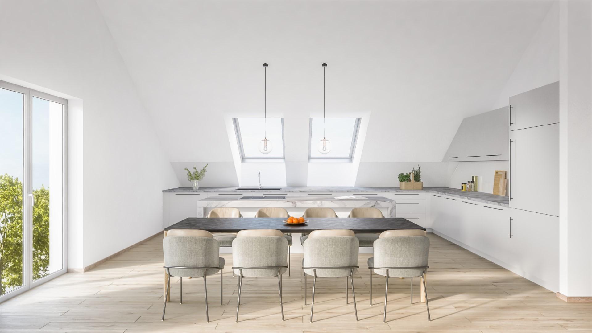 Komfortwohnen in ruhiger Citylage von Hilden - Küche Essen Dachgeschoss