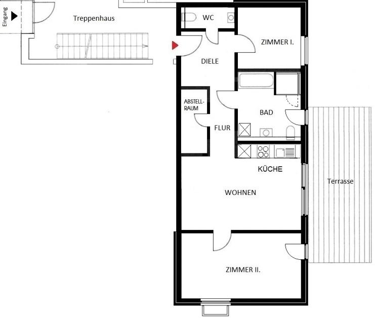 Komfortwohnen in ruhiger Citylage von Hilden - Wohnung Nr. 2