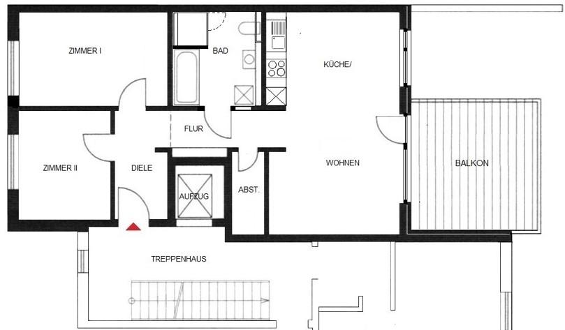 Komfortwohnen in ruhiger Citylage von Hilden - Wohnung Nr. 4