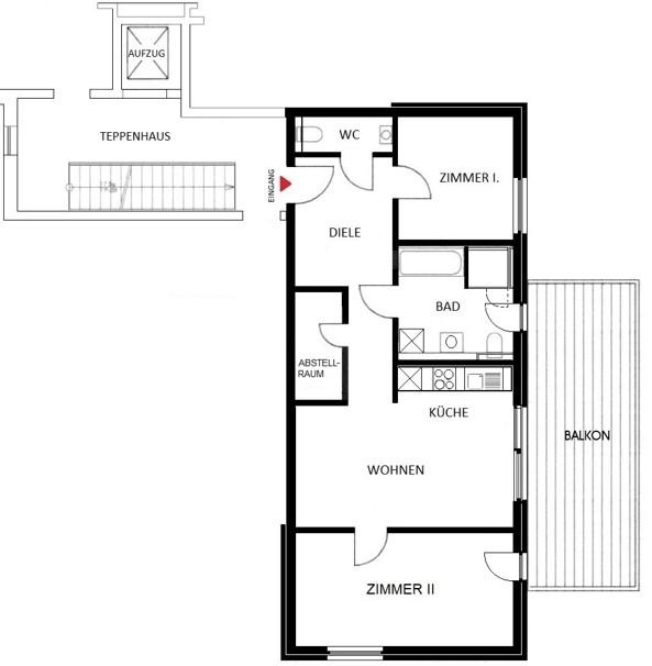 Komfortwohnen in ruhiger Citylage von Hilden - Wohnung Nr. 5
