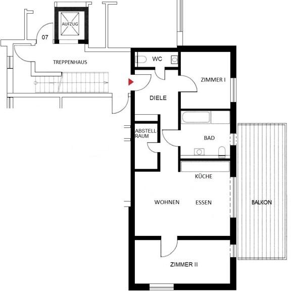 Komfortwohnen in ruhiger Citylage von Hilden - Wohnung Nr. 8