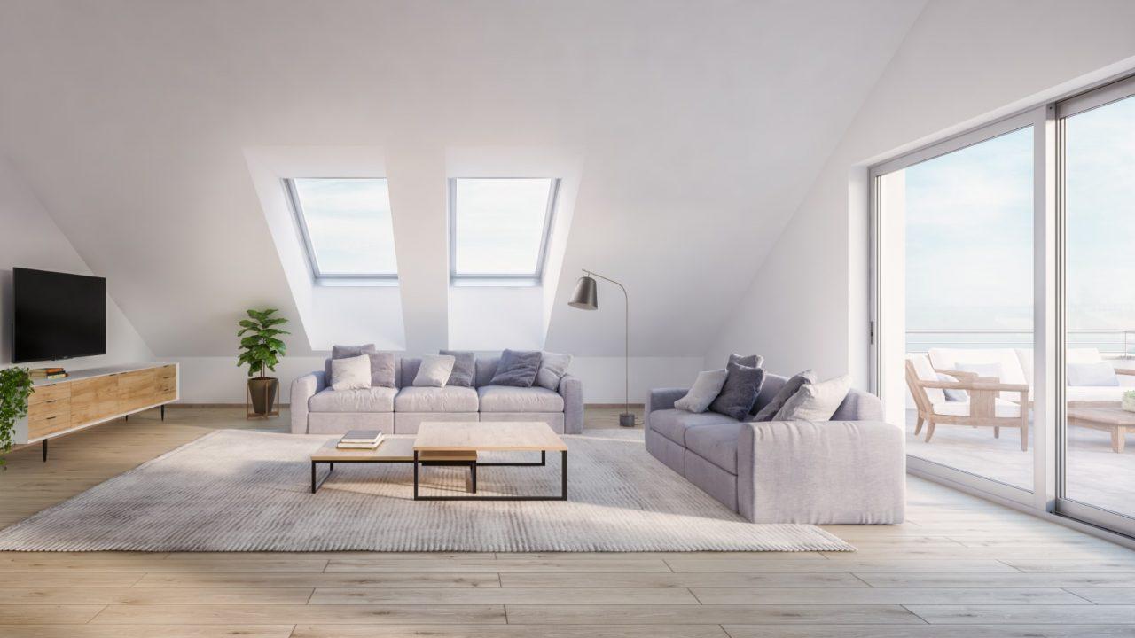 Komfortwohnen in ruhiger Citylage von Hilden - Wohnzimmer Dachgeschoss